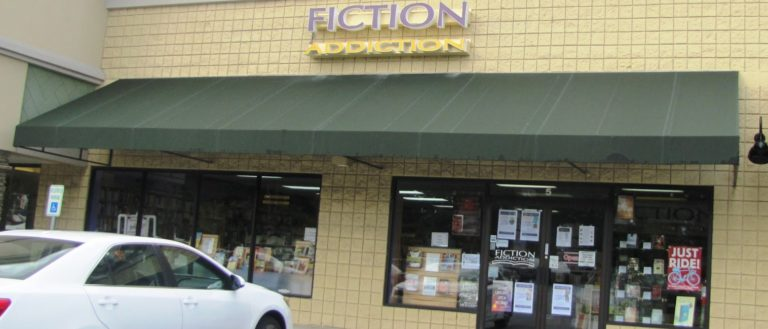 The exterior of Fiction Addiction.