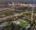 Downtown Greenville and the home of future Unity Park.