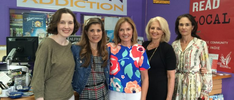 Authors at a Fiction Addiction panel in 2015.