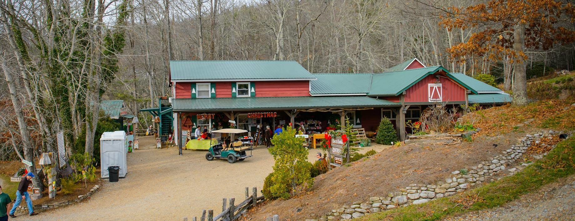 The Christmas store at Tom Sawyer's Christmas Tree Farm and Elf Village.