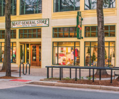 The exterior of Mast General's Greenville store.