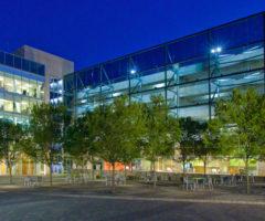 The CU-ICAR campus at night.