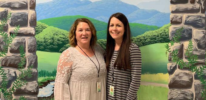 Cindy Howard and Katie Guthrie of Gateway Elementary School.