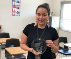 Ammi Del Carmen receives first year award.