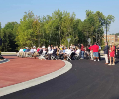 The grand opening celebration for the Parallel Parkway.
